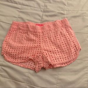 Small Lilly Pulitzer by Target Pink Eyelet Shorts